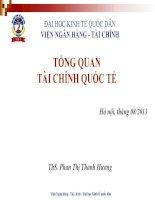 bài giảng tài chính quốc tế chương 1 - TỔNG QUAN  TÀI CHÍNH QUỐC TẾ