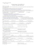 Bài tập trắc nghiệm dao động cơ học