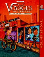 voyages in english - writing and grammar - teacher book 8