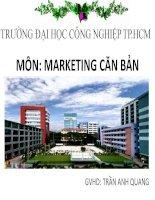 Đề tài: Tìm hiểu về các công việc/nhiệm vụ trong các lĩnh vực/ ngành nghề liên quan đến Marketing doc