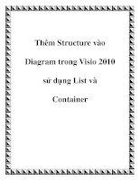 Thêm Structure vào Diagram trong Visio 2010 sử dụng List và Container pptx
