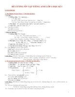 ôn lý thuyết bài tập hki tiếng anh l ớp 6 (with key)