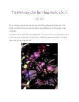 Trị rôm sảy cho bé bằng nước cốt lá tía tô pdf