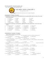 Đề thi olympic tiếng anh lớp 11 thành phố huế (with key)