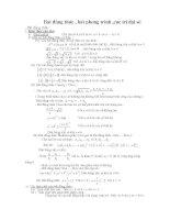Bất đẳng thức Bất phương trình và cực trị đại số ôn thi đại học và cao đẳng