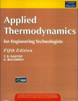 applied thermodynamics for engineering technologists