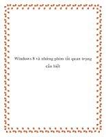 Windows 8 và những phím tắt quan trọng cần biết pdf