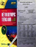 tuyển tập đề thi olympic tiếng anh lớp 10 năm 2012