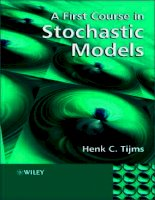 a first course in stochastic models - h. c. tijms