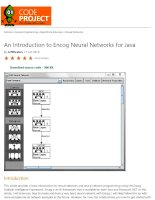 an introduction to encog neural networks for java - codeproject