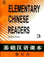 elementary chinese reader 3