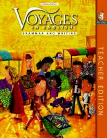 voyages in english - writing and grammar - teacher book 5
