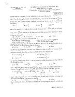 Đề thi học kì I môn Vật Lý K12 Ma132 năm học 2013 2014 GDPT Bến Tre