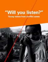 """Will you listen?"" Young voices from conflict zones ppt"