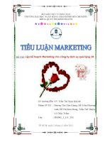 Tiểu luận:Lập kế hoạch Marketing cho công ty dịch vụ quà tặng 2B pot