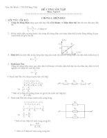 Tài liệu ôn tập môn vật lý lớp 9 ôn thi vào lớp 10 tham khảo