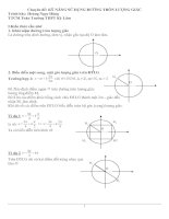 Chuyên đề 5: Kỹ năng sử dụng đường tròn lượng giác pdf