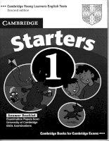 Tài liệu luyện thi Cambridge cho bé - Starter 1 (Answer)