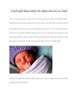 Cách giữ thân nhiệt ổn định cho trẻ sơ sinh potx