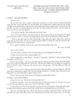 Đề thi + đáp án môn Ngữ Văn K12 HKII năm 2013-2014 Bến Tre GDTX