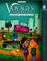 voyages in english - writing and grammar - teacher book 6