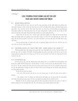 Các phương pháp đánh giá độ tin cậy của các sơ đồ cung cấp điện