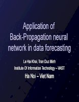 application of back-propagation neural network in data forec