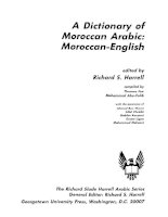 a dictionary of moroccan arabic moroccan-english & english-moroccan