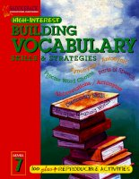 building vocabulary skills and strateries level 7