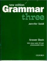 New grammar 3 - Answer book