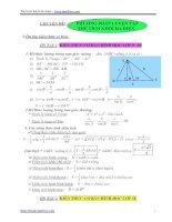 Các dạng toán thường gặp và các bài toán cơ bản về thể tích khối đa diện