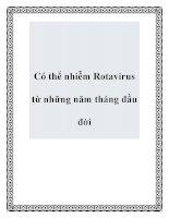 Có thể nhiễm Rotavirus từ những năm tháng đầu đời pptx