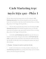 Cách Marketing trực tuyến hiệu quả - Phần 1 pptx