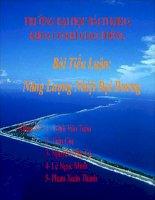 Bài Tiểu Luận:  Năng Lượng Nhiệt Đại Dương