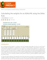 calculating the weights for an adaline using the delta rule - codeproject