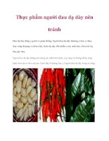 Thực phẩm người đau dạ dày nên tránh pot