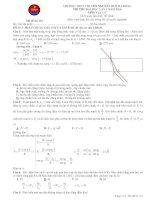 Đề thi thử vật lý chuyên nguyễn huệ lần 2 năm 2014