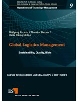 Logistic and Operation Management