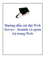 Bài giảng - Giáo án: Bài giảng hướng dẫn cài đặt web server joomla và quản trị trang web