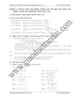 Hàm số và các bài toán có liên quan luyện thi đại học