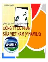 Đánh giá khả năng kinh doanh công ty cổ phần sữa việt nam (vinamilk