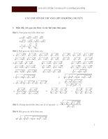 Các chuyên đề toán ôn thi vào lớp 10 PTTH