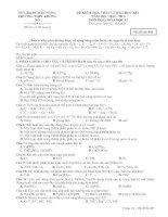 ĐỀ KIỂM TRA CHẤT LƯỢNG HỌC KÌ I MÔN HỌC: HÓA HỌC 11 TRƯỜNG THPT KRÔNG NÔ Mã đề 485 docx