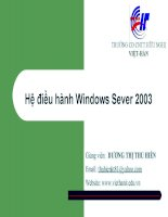 Giáo án - Bài giảng học tập công nghệ thông tin:  active directory 2003  cách sữ dụng tốt nhất