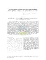 Kết quả nghiên cứu sử dụng liều lượng phân bón thích hợp cho giống lạc L23 vụ xuân 2009 tại Hà Tĩnh doc