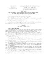 nghị định quy định chi tiết và hướng dẫn thi hành một số điều của luật chứng khoán