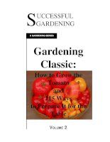 vegetables. how to grow the tomato and 115 ways to prepare it for the table