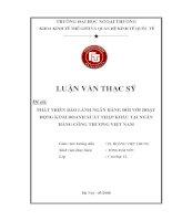 Phát triển bảo lãnh ngân hàng đối với hoạt động kinh doanh xuất nhập khẩu tại ngân hàng công thương Việt Nam