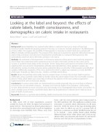 Looking at the label and beyond: the effects of calorie labels, health consciousness, and demographics on caloric intake in restaurants