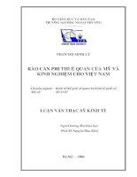 Rào cản phi thuế quan của Mỹ và kinh nghiệm cho Việt Nam